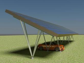 Pensilina fotovoltaica per auto