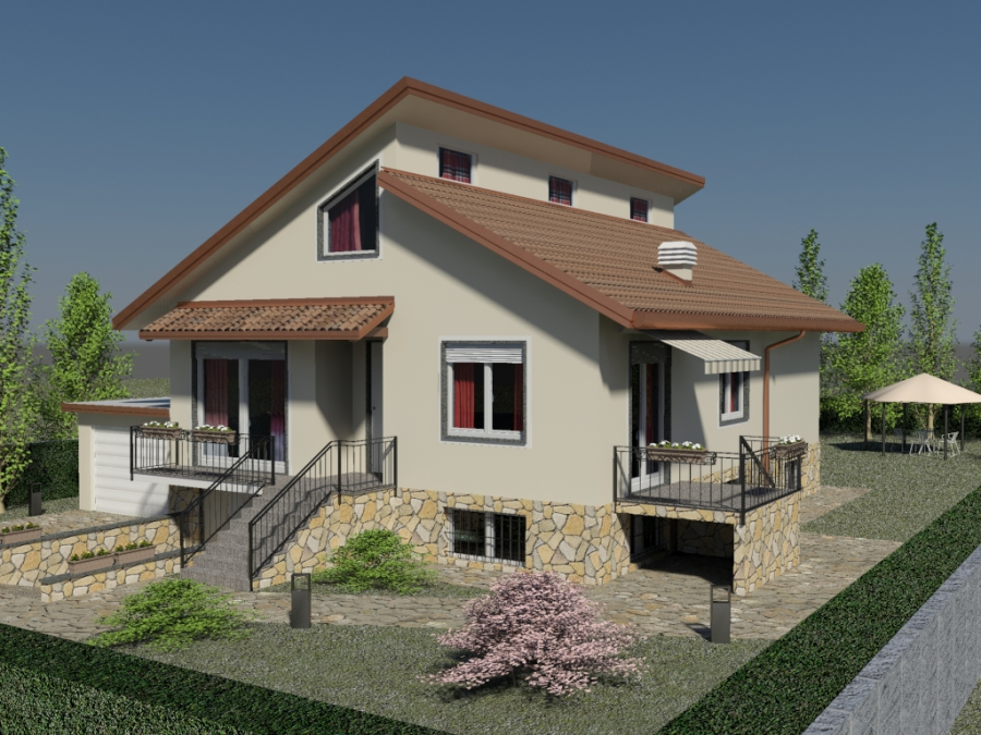 Lc rendering 3d models design 3d printing for Progetti di ville in campagna